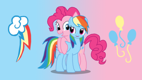 pinkie pie and bahaghari dash!
