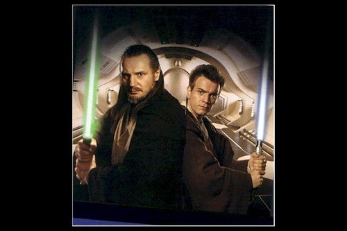 Qui Gon And Obi Wan Qui Gon Jinn And Obi Wan Kenobi Wallpaper 27376656 Fanpop