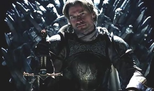 Jaime Lannister on Iron Throne