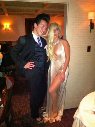 Lady Gaga at The French Laundry in Napa Valley with a fan