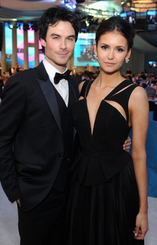 Nian at Elton John's Oscars Viewing Party