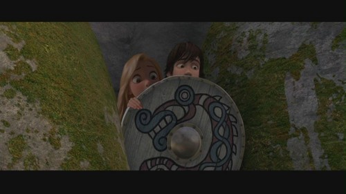 Rapunzel and Hiccup Hidding