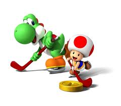 Toad and Yoshi Hockey