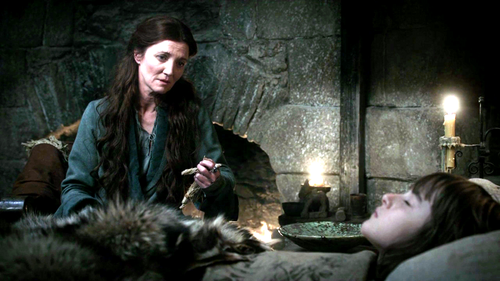 Catelyn and Bran Stark