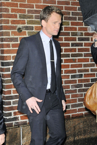 Neil Patrick Harris Arrives for 'Letterman'