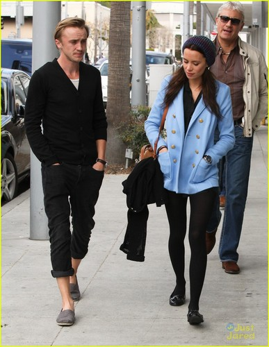 Tom Felton & Jade Olivia: Beverly Hills Lunch