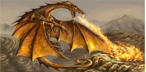 dragons can breath fire!