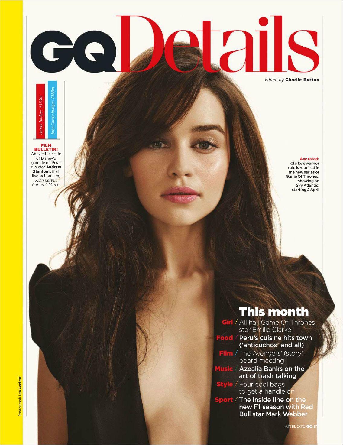 Emilia Clarke Gq Magazine Game Of Thrones Photo 29513273 Fanpop