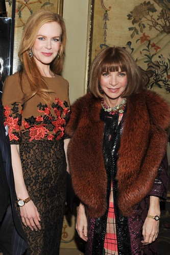 Nicole and Anna Wintour - Paris Fashion Week