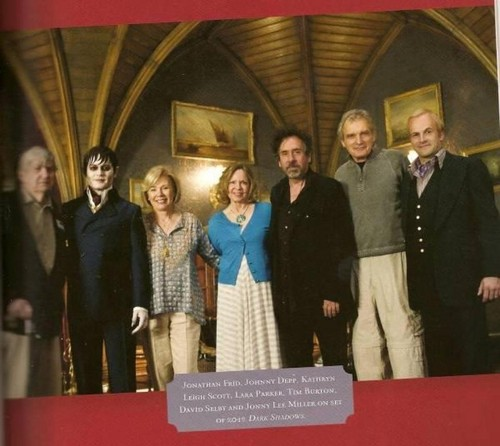 On the set of Dark Shadows with original cast