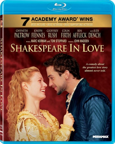 Shakespeare in upendo Blu-ray cover