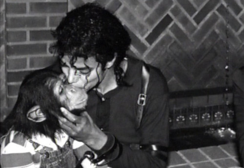 Bubbles and Michael Jackson