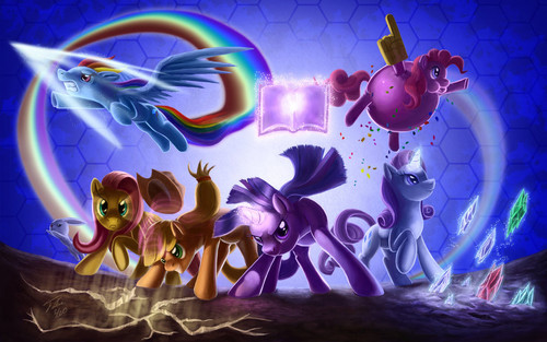 Mane 6 fighting is magic