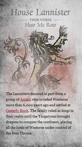 house Lannister info