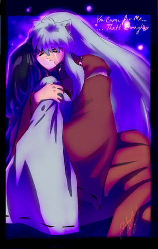 "Inuyasha and Kikyo_ "" آپ came for me...That's enough."""