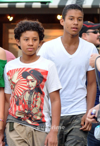 Jermajesty Jackson and Jaafar Jackson at the Commons in Calabasas March 11th 2012