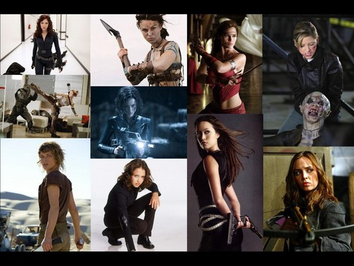 Natasha , Guinevere , Elektra , Buffy , Abby , Selene , Alice , Max ; Cameron And Faith