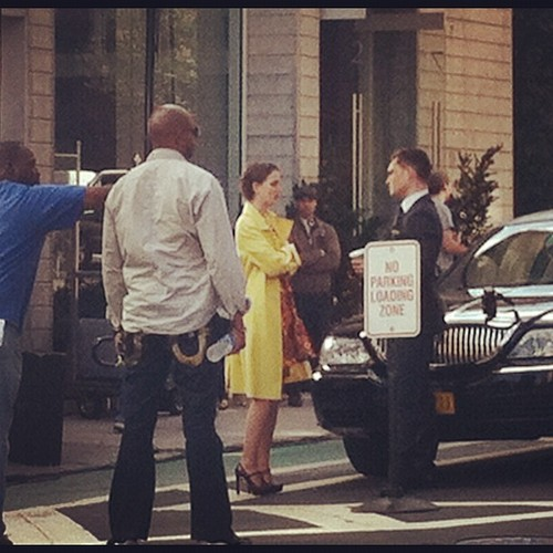 Ed and Leighton on set March 20