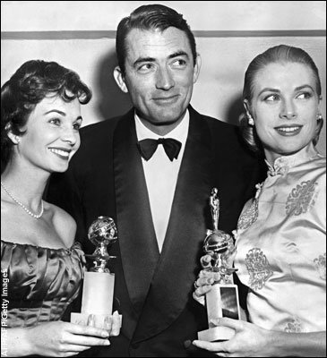Jean Simmons, Gregory Peck & Grace Kelly