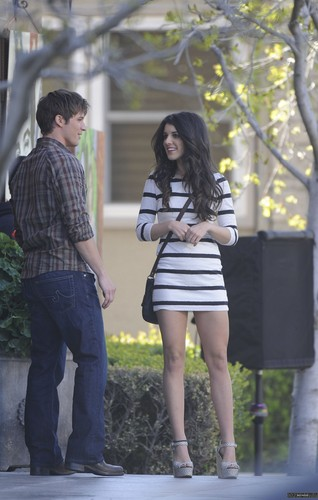 Matt and Sheane on set