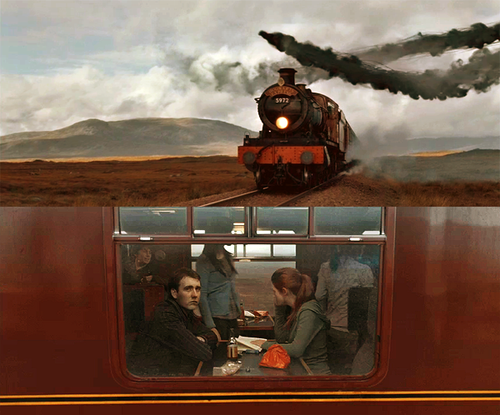 Neville and Ginny at Hogwarts Express