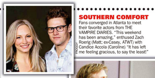 "Scan of Candice & Zach in ""Soap Opera Digest"" magazine."