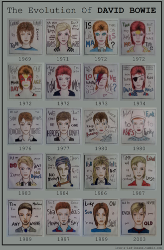 The Evolution Of David Bowie