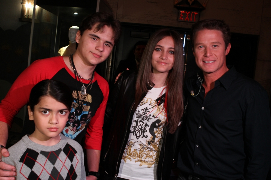 Blanket, Prince, Paris and Billy Bush (Access Hollywood Reporter) 2012