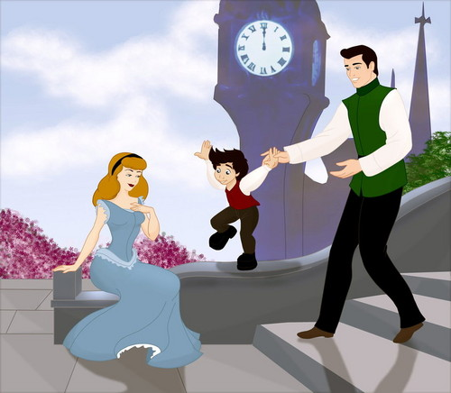 Cinderella and Prince Charming Family