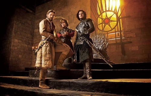 Jaime and Tyrion with Jon