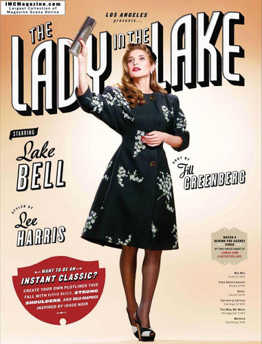 Lake on the cover of Los Angeles Magazine - September 2011