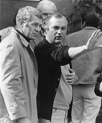 McQueen and Peter Yates in the set of Bullitt