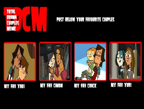 Total Drama Couples Meme ^^