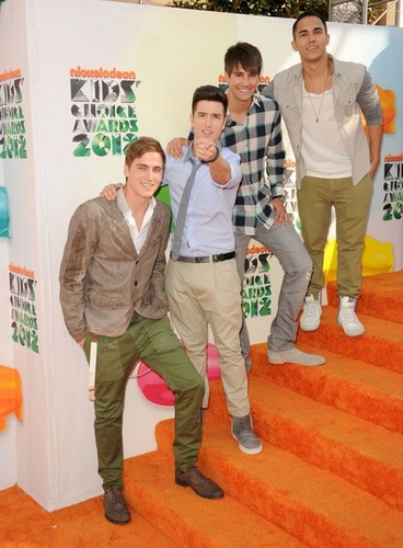 BTR arrive at the Kids' Choice Awards 2012