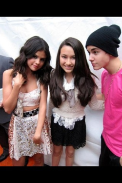 Justin Bieber and Selena Gomez leaving KCA