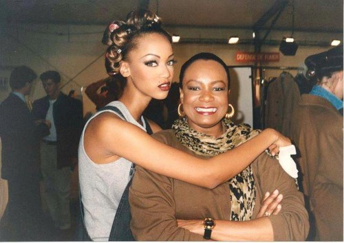 Tyra with her mom