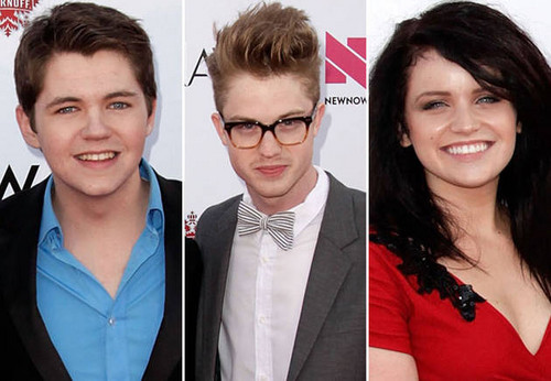 Cameron Mitchell, Damian McGinty, and Lindsay Pearce at the NewNowNext Awards