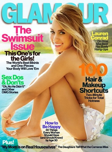 LC on the cover of the May 2012 issue of Glamour