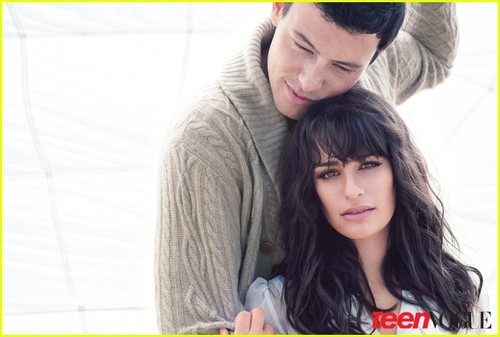 Lea Michele & Cory Monteith Covers Teen Vogue December 2010