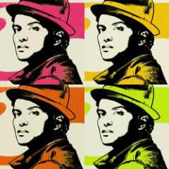 bruno mars looking colorful