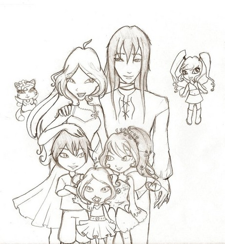flora and helia's big happy family