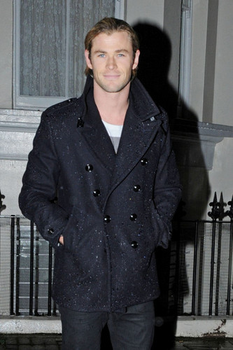 Chris Hemsworth in the Rain