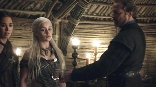 Daenerys and Jorah with Doreah