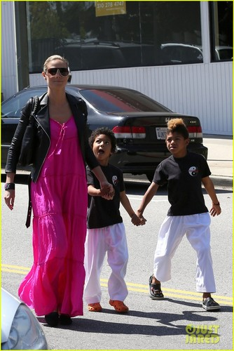 Heidi Klum Takes Kids to Karate Following Divorce Filing