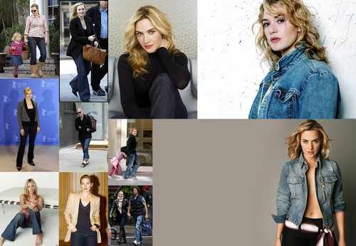 Kate Winslet in blue jeans