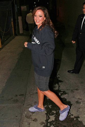 "Leah Remini Leaves the ""Jimmy Kimmel Live"" Studios 2010"