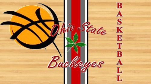 OHIO STATE basketbal ON HARDWOOD