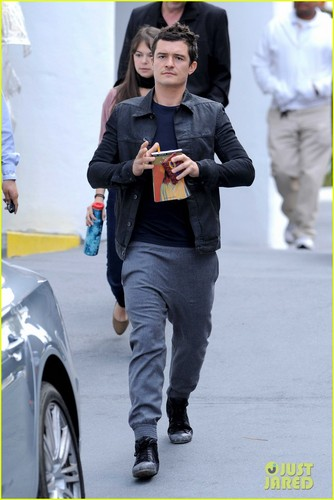 Orlando Bloom: Personalized Goyard Wallet
