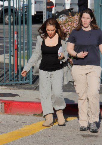 Alyssa - Mistresses -  On the set, March, 2012