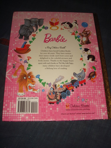Back cover of Barbie MT2 - Big Golden Book